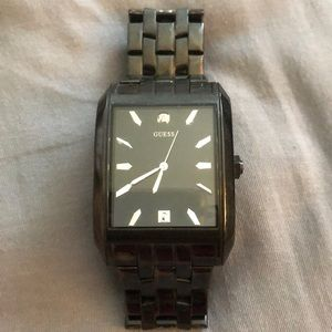 Guess men's , squared steel watch